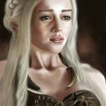 Emilia Clarke (Daenerys Targaryen - Game of Thrones) Digital Painting delineated using a stylus on a Note 3 screen