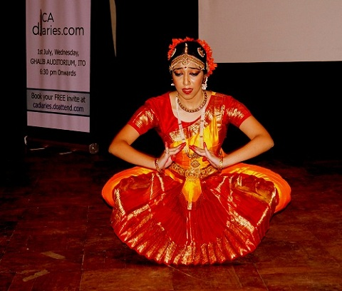 Bharatanatyam Dancer - Geetika Haryani - CA Diaries - Articleship at CA Diaries Launch