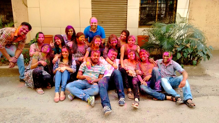 CA Nikita Dresswala & Team QuezX - Holi Celebrations