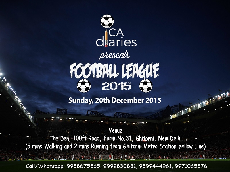 CA Diaries Football League 2015