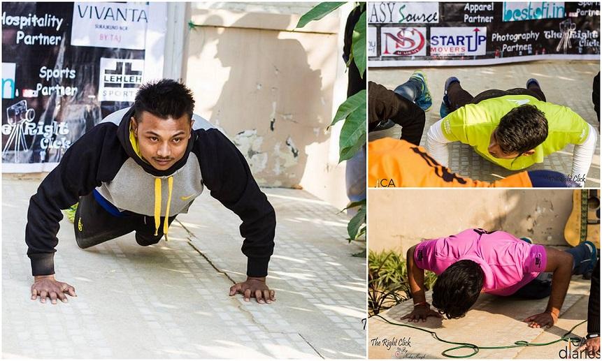 Pushups Sehat SIngh CA Kulvinder Ruhil - CA Diaries Football League 2015