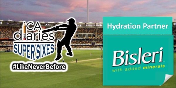 CA Diaries Super Sixes 2016 - Hyderation Partner Bisleri